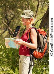 woman hiking