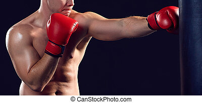 Young Boxer boxing