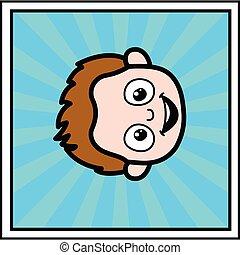 Young Boy cartoon face