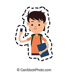young boy cartoon icon
