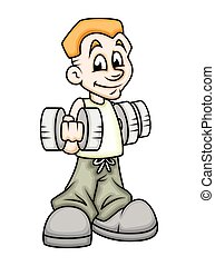 Young Boy Doing Gym
