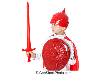 Young Boy Dressed Like a knight