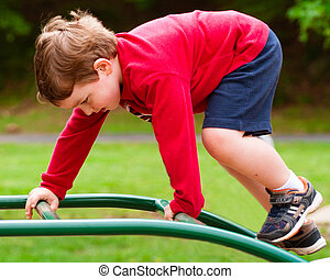 Young boy on playground
