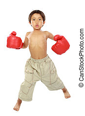 boy ready to box