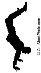 Young Boy Stunt Action Shape