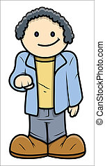 Young Boy - Vector Cartoon