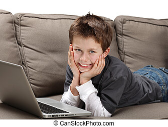 boy with laptop