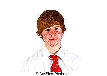young boy with tie
