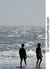 Young Boys at Ocean