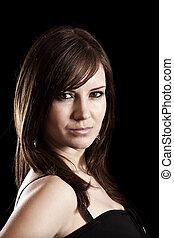 Young brunette woman portrait