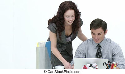 Young Business associates working together in and office...