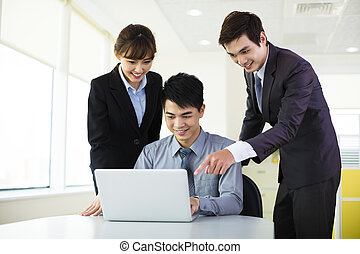 Young business colleagues working in the office
