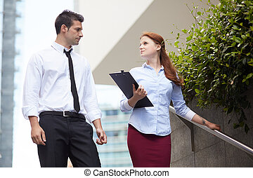 Young Business couple working