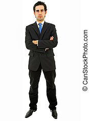 man full body - young business man full body isolated on...