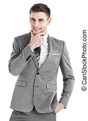 Young business man portrait - Portrait of handsome smiling...
