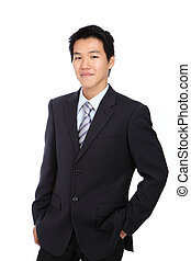 Young business man with confident smile
