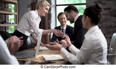 Young Business People are Negotiating With Colleagues About Creating a New Project.