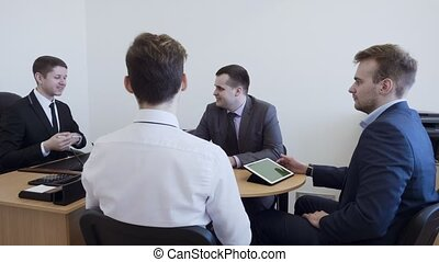 Young business people group have meeting in the office.