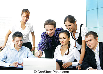 Young business people in office
