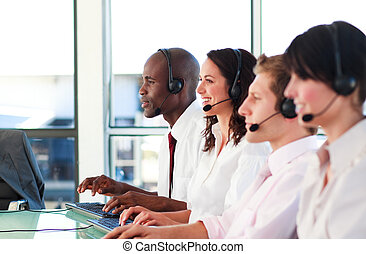 Business people working in an office - Young Business people...