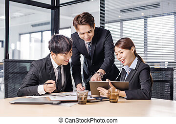 young business people working in office