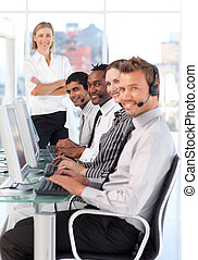 Business team at work