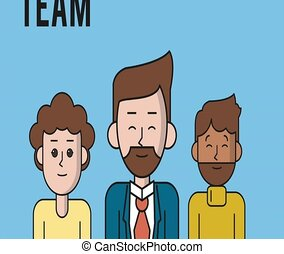 Young business teamwork HD animation - Young business...