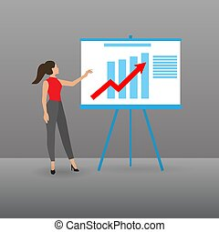 Young business woman doing a presentation