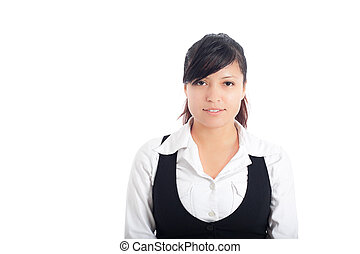 Young business woman smile