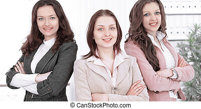 Young business women in modern office. activism the concept