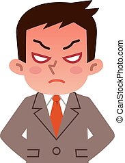 Young businessman angry