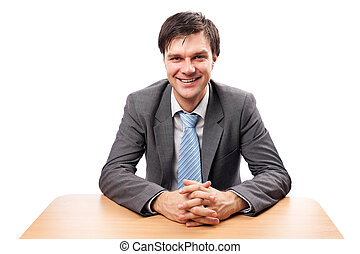 Young businessman at desk