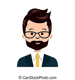 young businessman avatar character