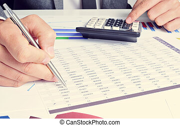 young businessman checking accounts