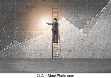 Young businessman facilitating economic growth concept