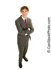 Young Businessman Full Body Arms Crossed