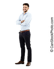 Young businessman, full length