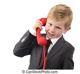 young businessman important call