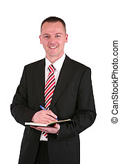 Young businessman in a suit