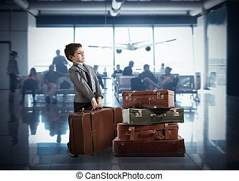 Young businessman in airport