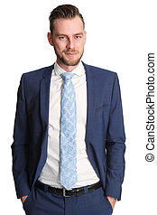 Young businessman in suit