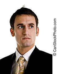Young Businessman Looking Left