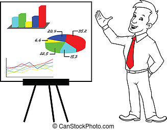 presentation - young businessman presentation