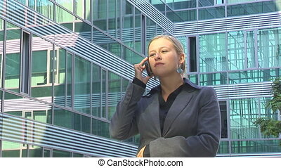 young businesswoman calling