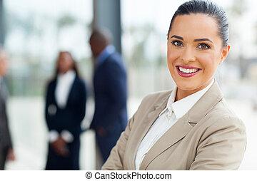 young businesswoman close up portrait