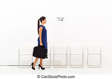 businesswoman going for job interview - young businesswoman...