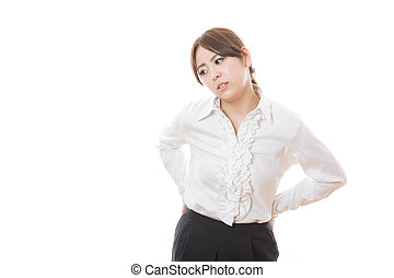 Young businesswoman - The young businesswoman who tired