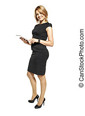 Young Businesswoman - Studio shot of attractive woman in a...