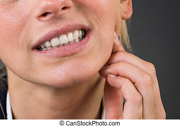 Young Businesswoman Suffering From Tooth Ache