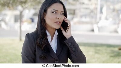 Young Businesswoman Talking On Her Phone